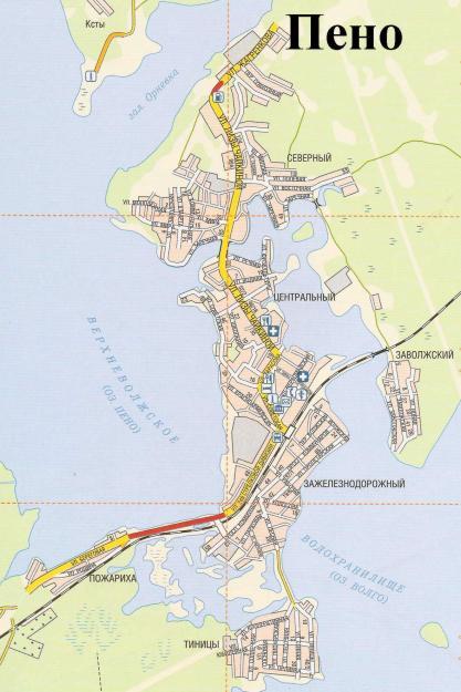 Карта Пено