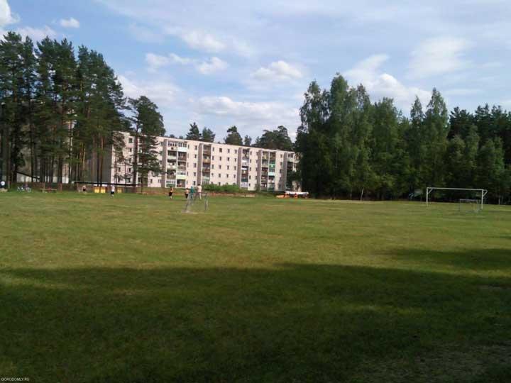 Новый вид стадиона ЗАТО Солнечный