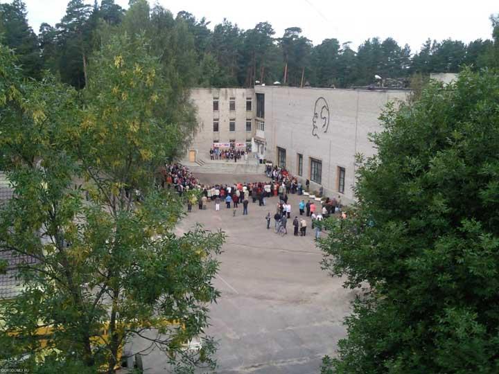 Школьная линейка 1 сентября 2010г.
