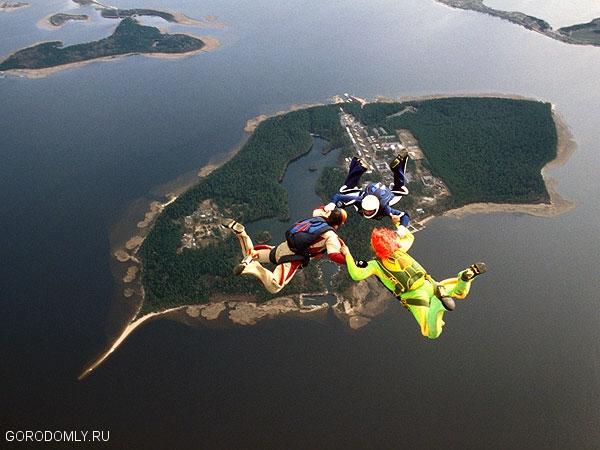 Остров Городомля с высоты птичьего полёта.