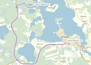 маршрут Осташков - Сокол