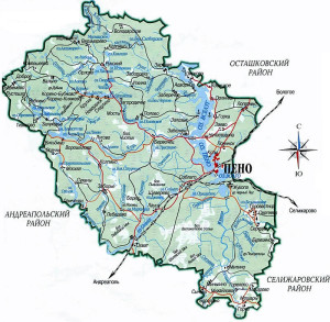 Карта пеновского района