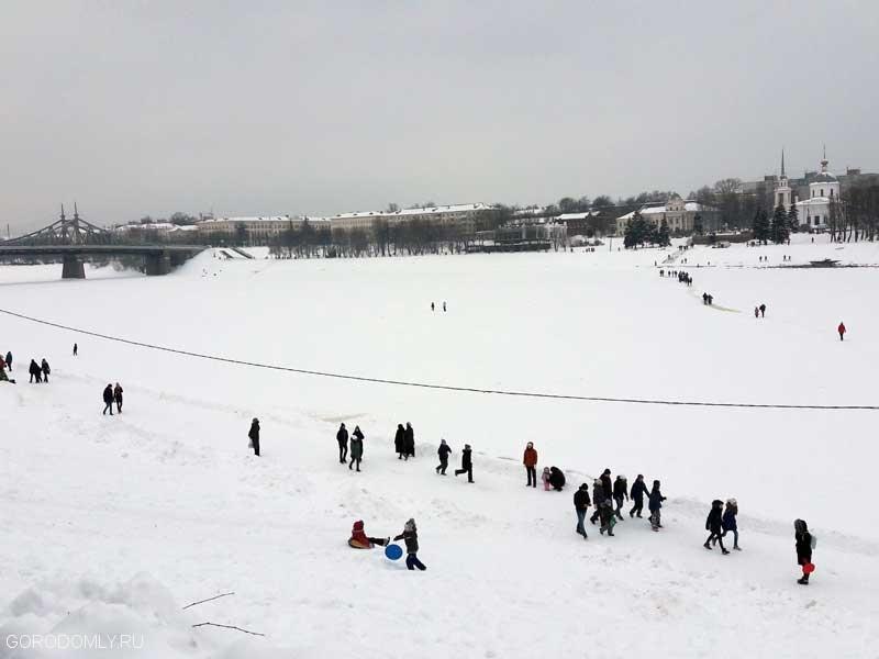 Зимняя Волга в Твери