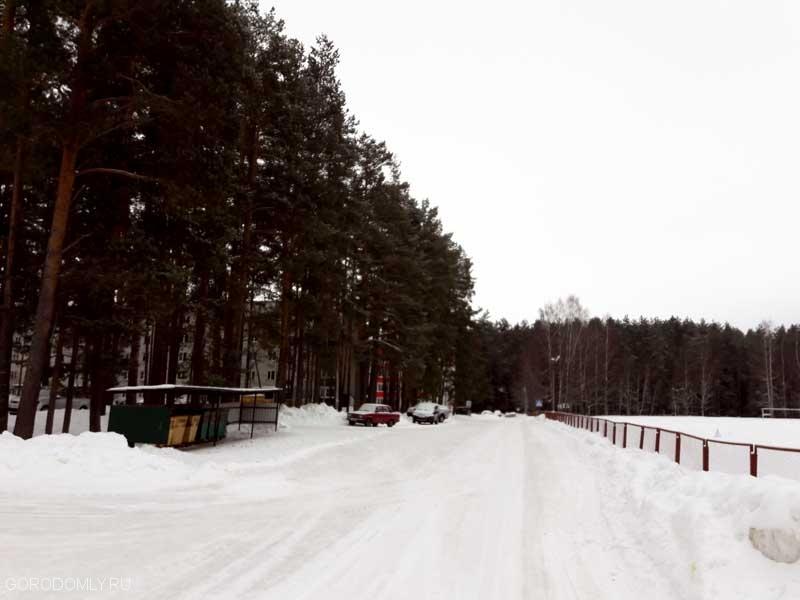 Дорога вдоль стадиона на Городомле