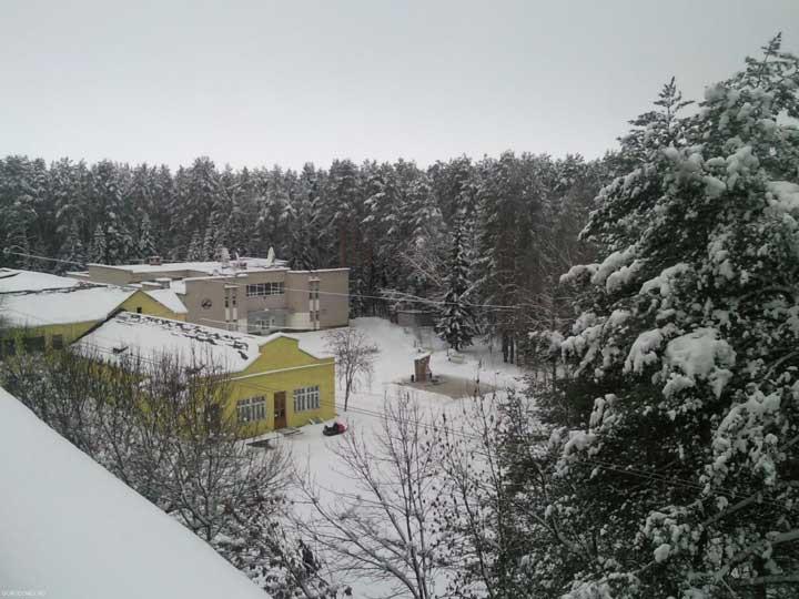 Бассейн, спортзал и библиотека на острове Городомля.