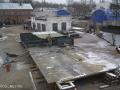 Строительство платформы для ремонта судов на Селигере.